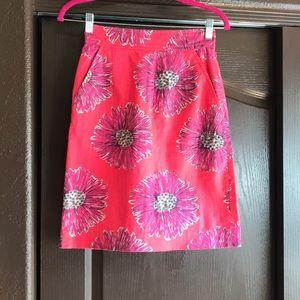 Lilly Pulitzer Skirt Flower EUC